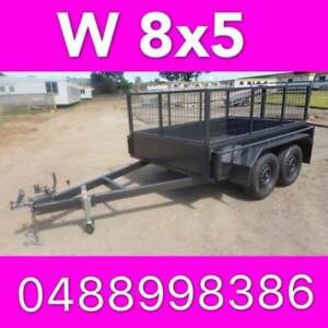 8x5 tandem box trailer with cage heavy duty brakes aus made