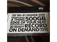 Sky hd 3D ready 500g wifi box & remote