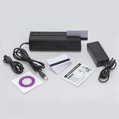 Msre206 Usb Magnetic Stripe Credit Card Reader Writer 3 Tracks Encoder