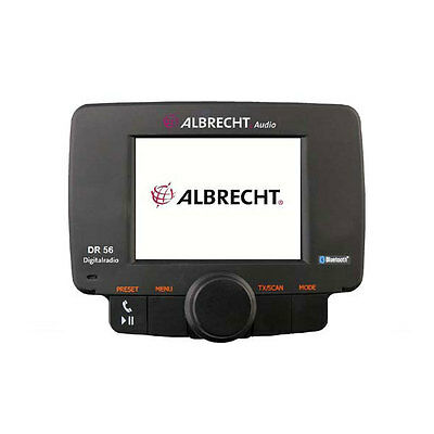 "Albrecht DR 56 DAB Autoradio Adapter FM Transmitter Bluetooth 2,4"" Display"