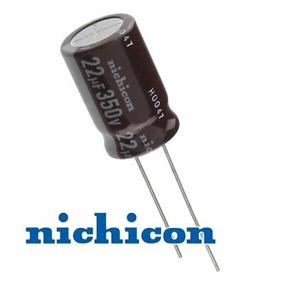 Nichicon 22uf 350v Radial Lead Electrolytic Capacitor Usa Seller