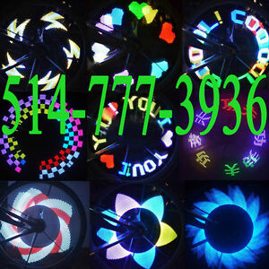 32 LED Cycling Bikes Bicycles Motorcycle Rainbow Wheel Signal