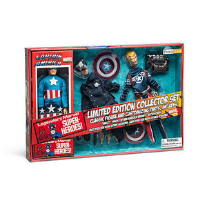 "Captain America Retro Set 8"" tall fabric action figure Includes"