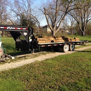 Pj deck over 102 inch wide 22 foot tilt/load