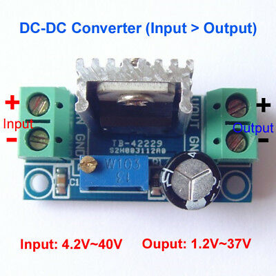 Lm317 Dc-dc Buck Step-down Converter Voltage Regulator 5-36v To 3v 6v 9v 12v 24v