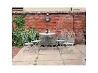 Grey Vintage 5 Piece Garden Patio Dining Set