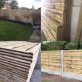 🔨🌟Heavy Duty Pressure Treated Waney Lap Timber Fence Panels