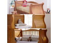 tutti bambini sleigh cot bed & NEW mattress