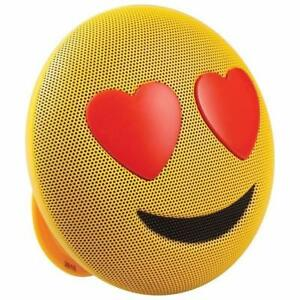 Jam HX-PEM03-CA Jamoji Emoji Love Struck Bluetooth Wireless Speaker - Yellow/Red(Open Box)