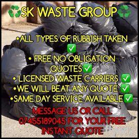 All rubbish taken