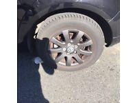 "GOLF ALLOYS 15"" 4 good as new tyres"