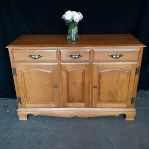 vintage maple sideboard or buffet