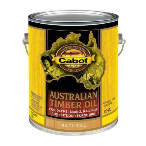 CABOT Australian Timber Oil, Hardwood Stain, 3400 Series, NATURAL Tint - 1 Gal.