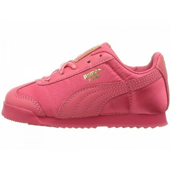 Puma Roma 36509501 Satin Paradise Pink Team Gold Infant Toddler Baby Girl Shoes 1