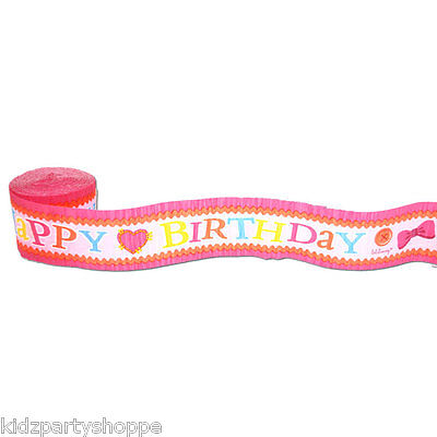 LALALOOPSY CREPE Paper Streamers Birthday Party Supplies Decorations Decorate Crepe Streamers
