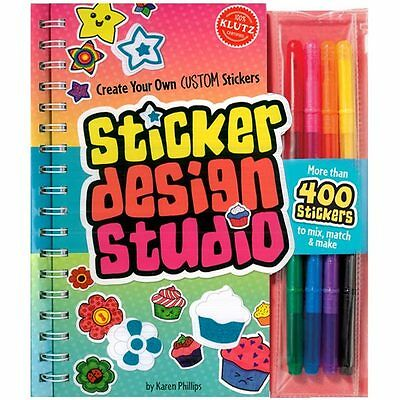 STICKER DESIGN STUDIO - CREATE YOUR OWN CUSTOM STICKERS KLUTZ ART & ACTIVITY -