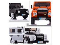 Sit & Ride (Electric) Land Rover Defender Available In White Orange, Black
