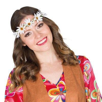 Kostüm-Zubehör Hippie Blumenband Karneval Fasching Neu