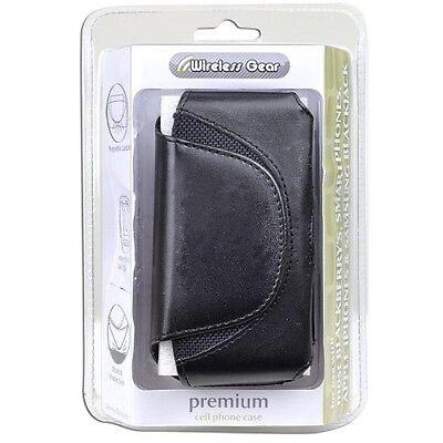 Wireless Gear 4HL950 Premium Cell Phone Case For Slim Phones (Black) Brand New