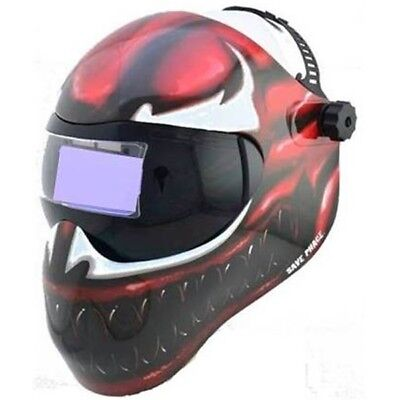 New Save Phace Efp-f Series Welding Helmet Marvel Carnage 410 Adf Lens