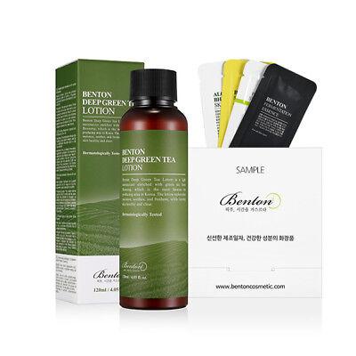 [Benton Cosmetic]Benton Deep Green Tea Lotion 120ml+Free Sample 2019 New Arrival