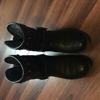 Good condition black short boots for sale-size 8