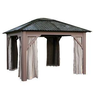 toile et moustiquaire pour gazebo 10x12. Black Bedroom Furniture Sets. Home Design Ideas