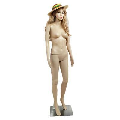 New Female Mannequin Realistic Plastic Full Body Dress Form Display Wbase Skin