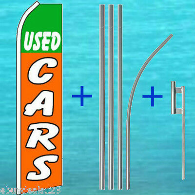 Used Cars Flutter Flag Pole Mount Kit Car Lot Advertising Sign Swooper Banner