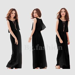 Summer New Evening/Cocktail/Party Women Ladies Long Maxi Dress Size S-XL UK 8-20