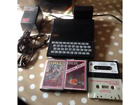 Sinclair zx81 vintage computer working with 16k rampack games retro gift
