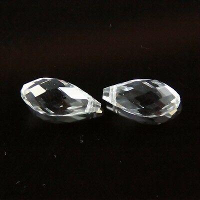 4pcs 10X20mm Swarovski Teardrop  crystal beads D Clear