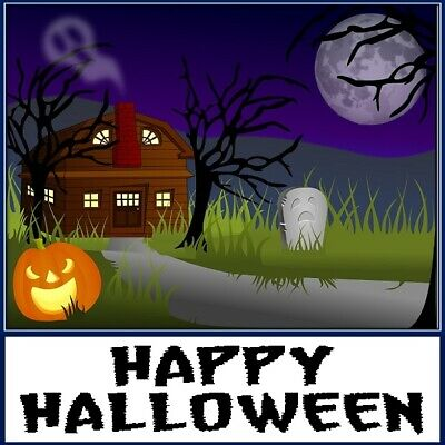 30 Custom Happy Halloween Night Personalized Address Labels