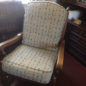 OLD. CHARM VINTAGE SOFA AND ARM CHAIR AT BARGAIN PRICE