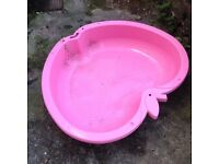 Pink Apple Chad valley double stackable hard plastic paddling pool sand pit