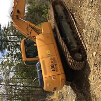 Hyundai 180 LC3 excavator green engine