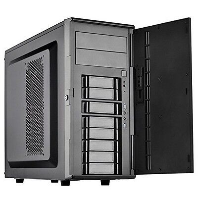 SilverStone CS380B Silverstone DIY ATX NAS Storage Case with Hot Swap Cases NEW