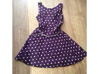 BNWT Purple polka dot dress