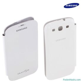 Brand New Boxed Samsung Galaxy S3 Flip Case Cover – White