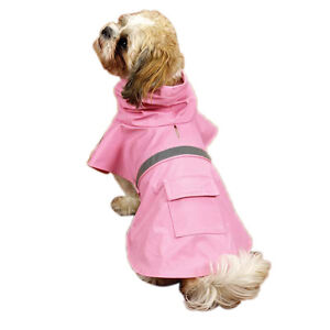 Guardian Gear Puppy Dog Reflective Rain Coat Slicker Heavy Duty Pet Jacket Blue
