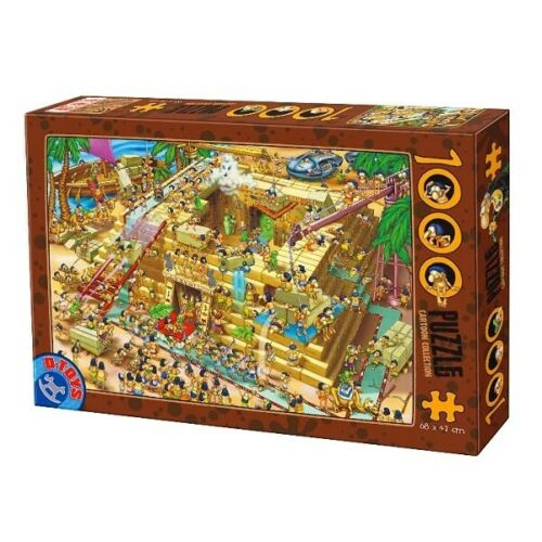 D-Toys 1000 Piece Puzzle - Cartoon Collection Building Pyramids