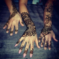 100% Natural beautiful henna designs and IN-HOME henna parties!