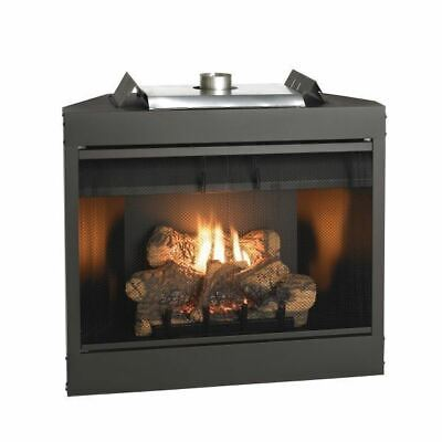 Deluxe MV 34 inch Flush Face B-Vent Fireplace - Natural Gas