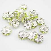 Green Crystal Spacer Beads