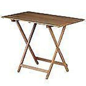 Tavolo pieghevole in legno tavolo campeggio in legno for Tavolo richiudibile in legno