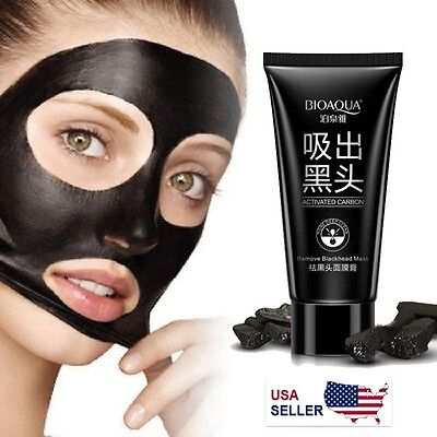 BIOAQUA Black Mud Face Mask Blackhead Remover Deep Cleansing Peel Acne Treatment