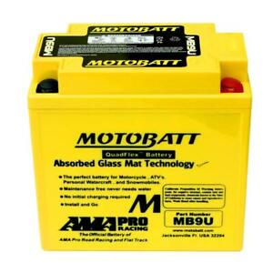 10.5 Ah MotoBatt MB9U Sealed AGM Battery