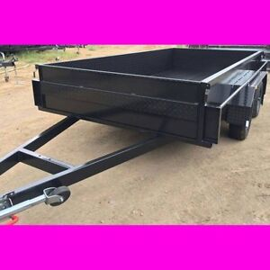 12x6 TANDEM TRAILER HIGH SIDE EXTRA HEAVY DUTY FULL CHECKER PLATE South Windsor Hawkesbury Area Preview