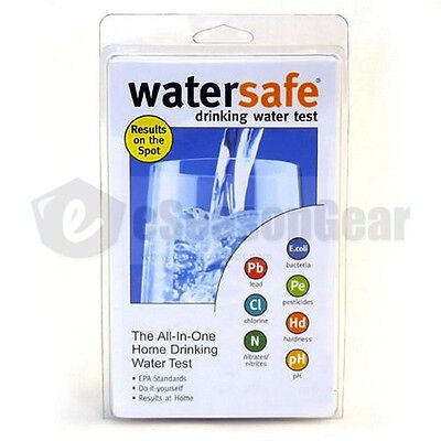 Bacteria Drinking Water (WaterSafe WS-425B City Home Tap Drinking Water Test Kit -Bacteria Lead pH &)