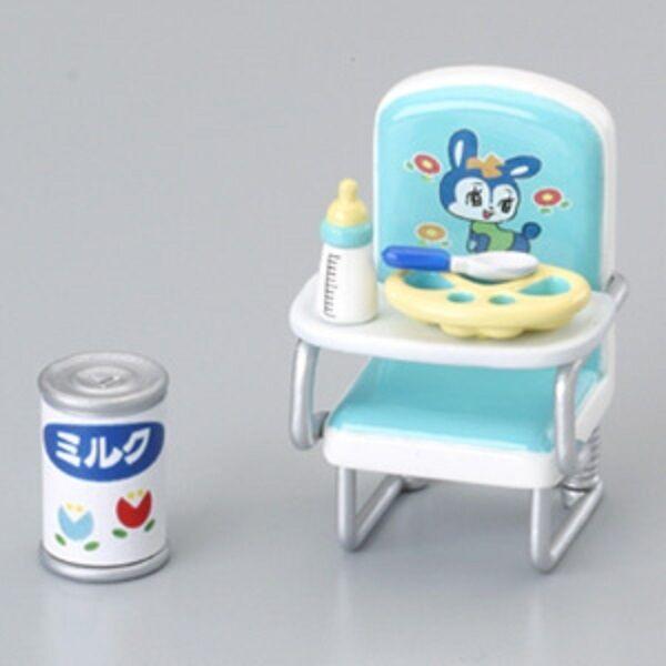 Megahouse dollhouse miniature blue baby chair milk 2004